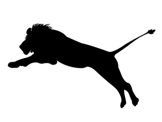 Vector illustration of lion silhouette