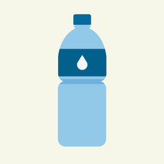 Bottle of water; flat design