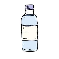 Bottle of water - cartoonish