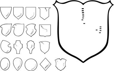 Set of Heraldic Shield Shapes
