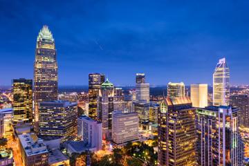 Charlotte, North Carolina, USA uptown skyline.