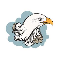 Great Eagle Head Ornament Drawing Art Illustration