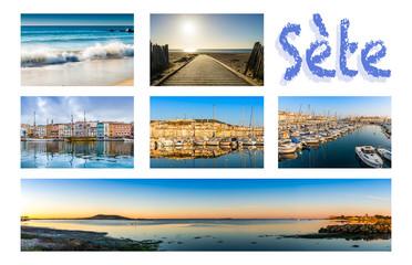 Carte postale de Sète en Languedoc, France