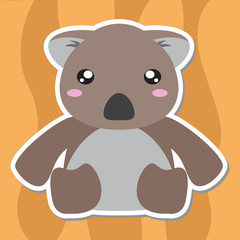 Cute Koala Cartoon, Vector