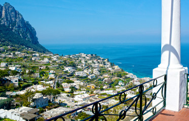 Island of Capri, panoramic view from the terrace