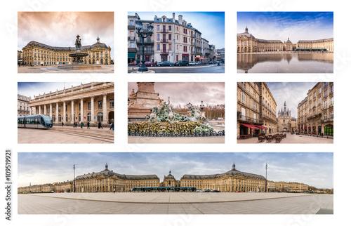 Carte Horizon Bordeaux.Carte Postale De Bordeaux Aquitaine En France Stock Photo