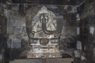 Ancient stone reliefs at Pramaban temple
