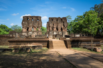 Royal Palace (Parakramabahu's Royal Palace), UNESCO World Heritage Site, Sri Lanka, Asia.