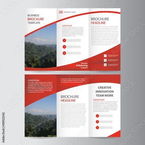 Red Elegance Business Trifold Business Leaflet Brochure Flyer