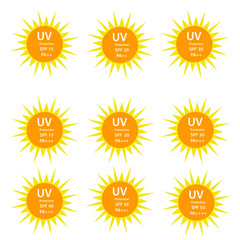 UV Protection  9 logos set