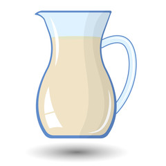 Milk colorful vector icon