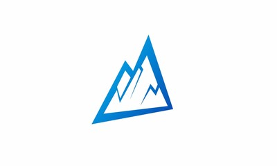 abstract mountain triangle logo