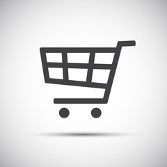 Simple vector illustration of a shopping cart icon