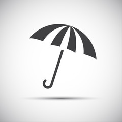 Simple vector umbrella icon, rain protection