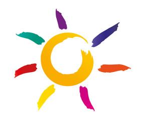Soleil - plage - couleur - été - détente - pinceau