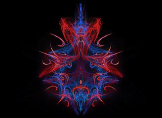 Colorful fractal print.
