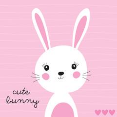 Naklejka premium ilustracja wektorowa ładny króliczek