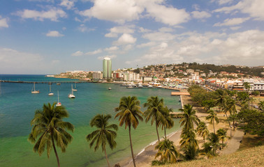 The view at Fort de France, the capital of Martinique.