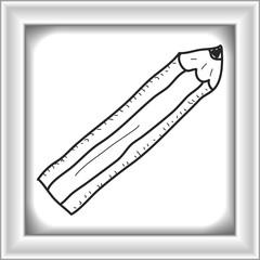 Simple doodle of a pencil