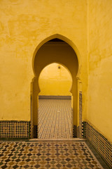 Morocco. Meknes. Inside of the Mausoleum of Moulay Ismail
