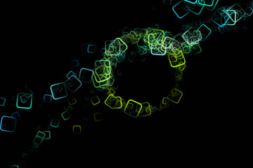 fantastic abstract eco square background design illustration