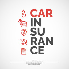 Car insurance poster.