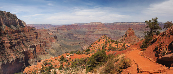 Pamorama of the Kaibab Trail, Grand Canyon