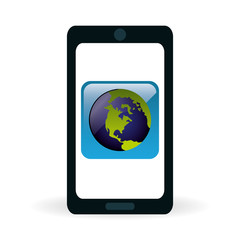 Technology design. social media icon. smartphone concept