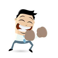 funny cartoon boxer