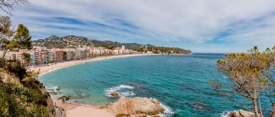 Panorama de la plage de Lloret de Mar