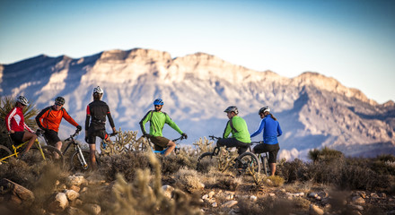Mountain bikers, Las Vegas, Nevada, USA