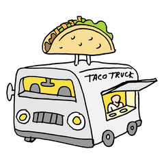 Mexican taco food truck