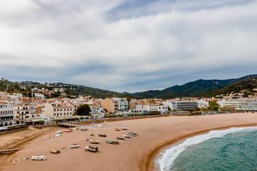 Vu sur la ville de Tosa de Mar des hauteurs du chateau