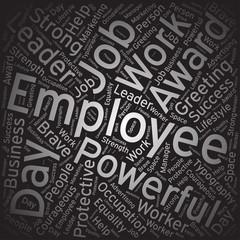 Employee,Word cloud art background