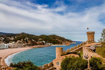 Vu sur la ville de Tosa de Mar des hauteurs du château