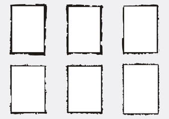 A set of vectorized grungy photography frames and backgrounds