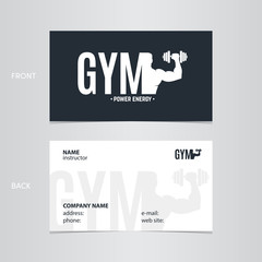 Business card gym