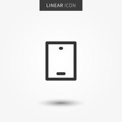 Smartphone icon vector illustration. Mobile phone creative line concept.