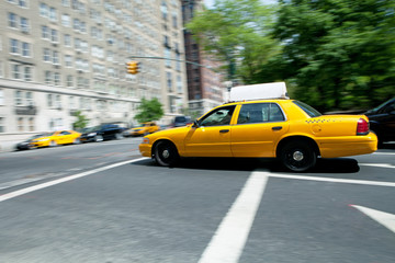 Speeding NYC Taxi