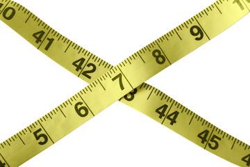 Measuring tape - crossed
