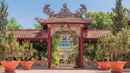 Portal to Buddhist temple (pagoda) yard