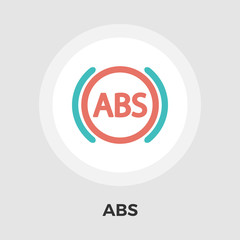ABS flat icon.