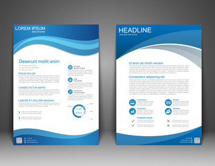 Brochure Flyer design Layout template, size A4, Vector