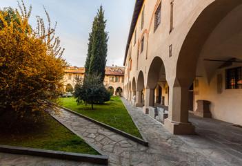 Il chiostro della Canonica, Palazzo vescovile, Novara, Piemonte, Italia