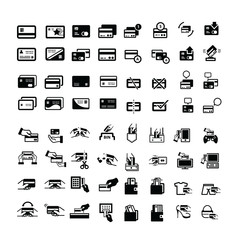 credit card icons set 64 item