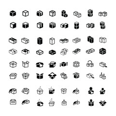 box icons set 64 item