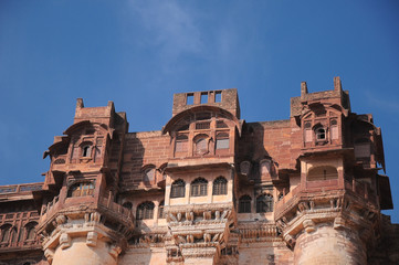 Photo sur Plexiglas Fortification Mehrangarh Fort, located in Jodhpur, Rajasthan is one of the largest forts in India.