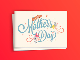 Greeting Card with Envelope for Mother's Day.