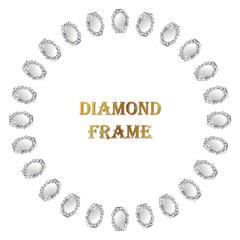 Diamond round frame