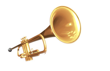 Trompete, freigestellt